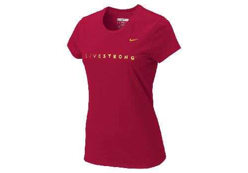 Nike - Livestrong Remera Mujer