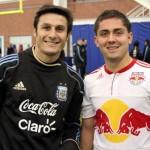 Javier Zanetti y Brian Gallo