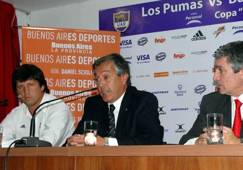 Santiago Phelan, Luis Castillo y Alejandro Rodríguez (Foto: Prensa U.A.R.)
