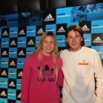 adidas - Media Maratón Rosario 2011 - La ex-leona Ayelén Stepnik y el ex-tenista Guillermo Coria