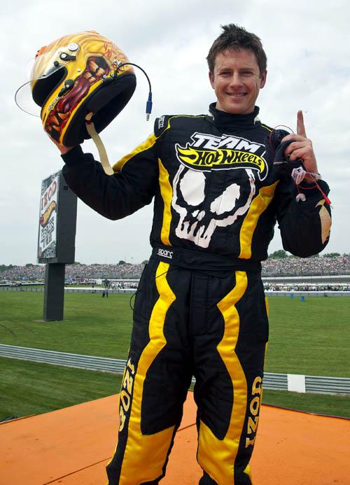 Tanner Foust, el conductor amarillo.
