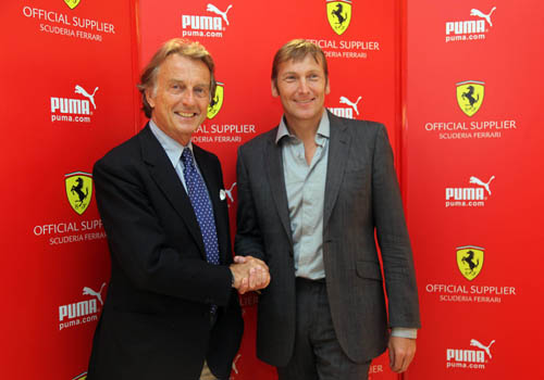 Luca di Montezemolo, presidente de Ferrari, y Jochen Zeitz, Presidente y CEO de PUMA. (Foto: Newscom)
