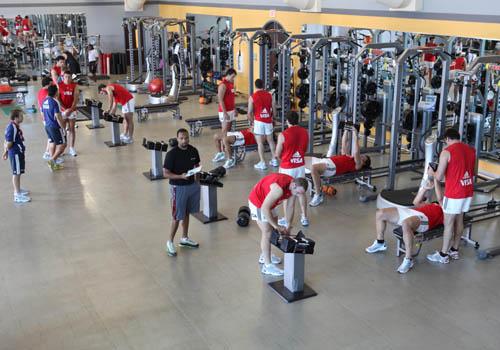 Los Pumas en el gimnasio