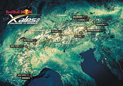 Red Bull - X Alps - Ruta