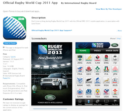 Apple - RWC 2011