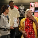 De izq. a Der.: Bill Hader, Kevin Durant y Christopher Lloyd. (Foto: Prensa Nike Argentina)