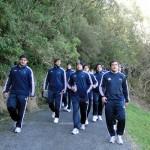 Los Pumas reccorriendo el Dunedin Volcanic Garden (Foto: Prensa U.A.R.)