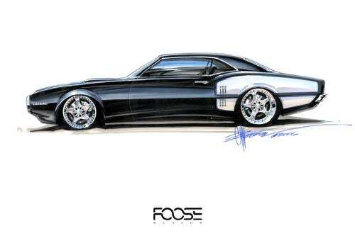 Uno de los tantos dibujos de Chip Foose. (Foto: 3M)