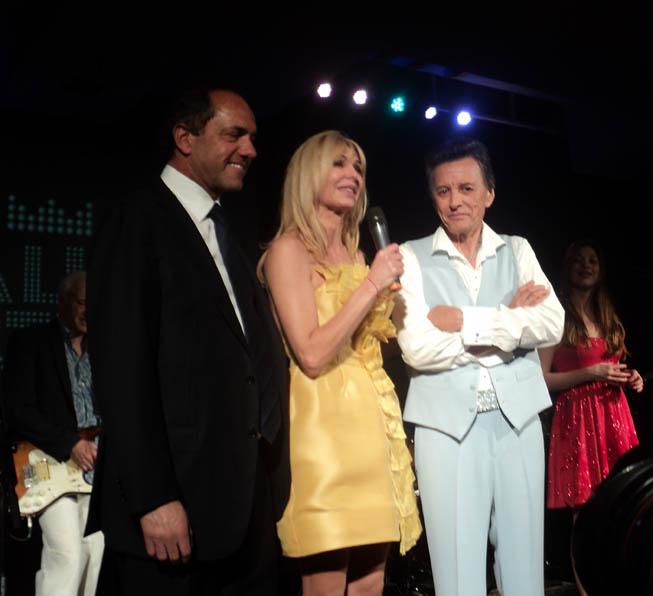 Daniel Scioli, Karina Rabollini y Palito Ortega.