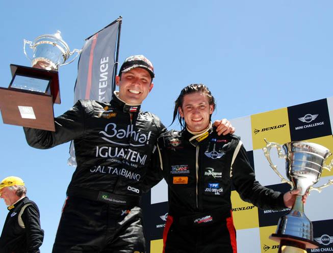 Patrick Goncalves (Izq.) y Matías Gasparich (Der.), Campeón y Subcampeón.