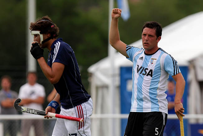 Argentina vs. Francia. El argentino Pedro Ibarra. (Foto:Matías Correa Arce).