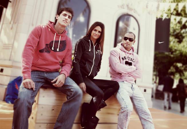 Los atletas Germán Charaviglio (Argentina, Salto con Garrocha), Leryn Franco (Paraguay, Lanzamiento de Jabalina) y Andrés Silva (Uruguay, Atletismo) fueron los elegidos por Nike como representantes de esta colección.