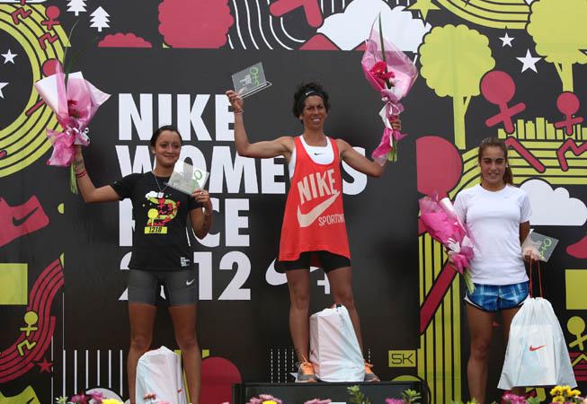 Las ganadoras de la Nike - Women's Race.