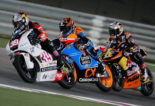 Luis Salom, con la moto número 39, una Kalex KTM decorada con la marca Kevingston.