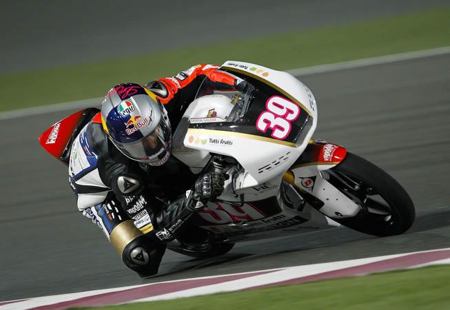 Luis Salom, con la moto número 39, una Kalex KTM decorada con la marca Kevingston. (Foto. MotoGP.com)