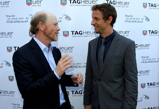 El director Ron Howard junto a Jenson Button.