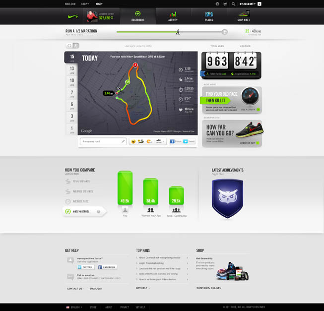 Nike + Android.