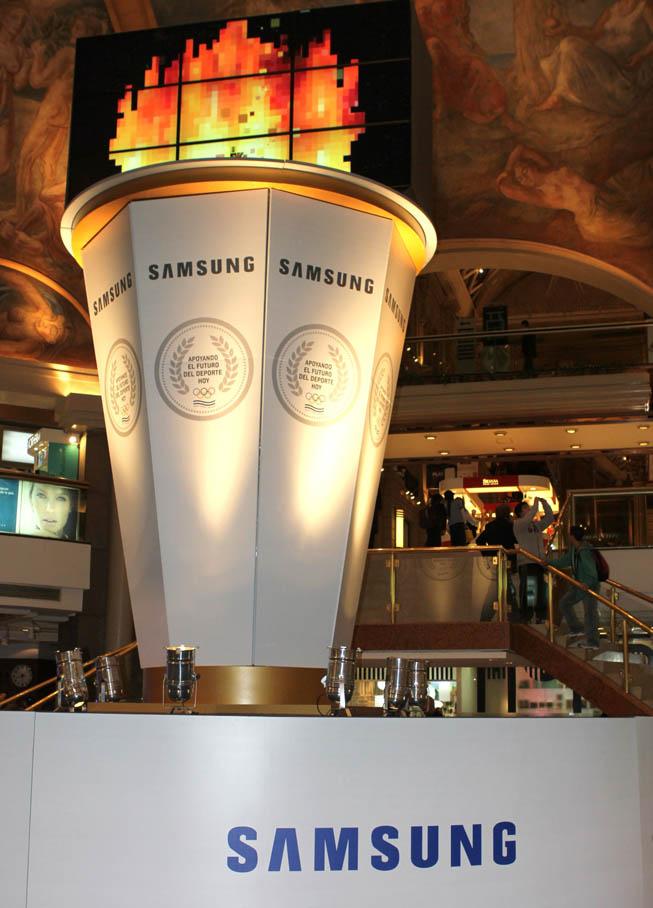 Antorcha Olímpica Samsung.