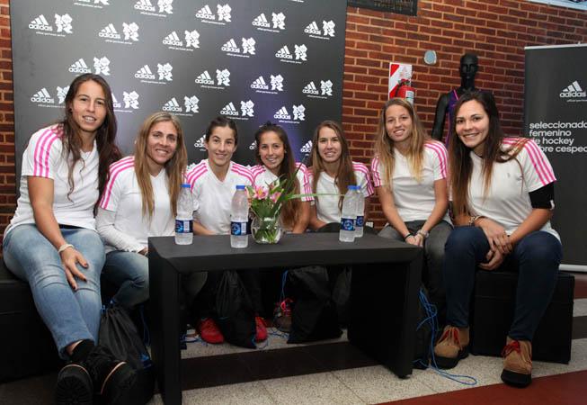 Las Leonas Sofía Maccari, Macarena Rodríguez, Rosario Luchetti, Rocio Sanchez Moccia, Daniela Sruoga, Delfina Merino y Noel Barrionuevo.