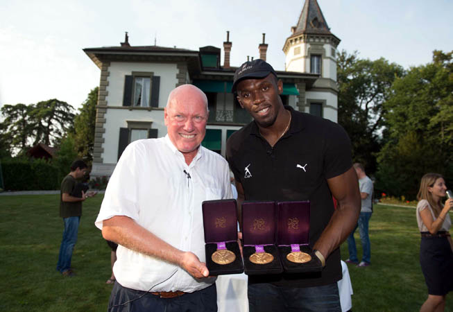 Jean-Claude Biver junto a Usain Bolt.