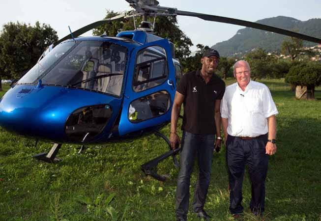Jean-Claude Biver y Usain Bolt.