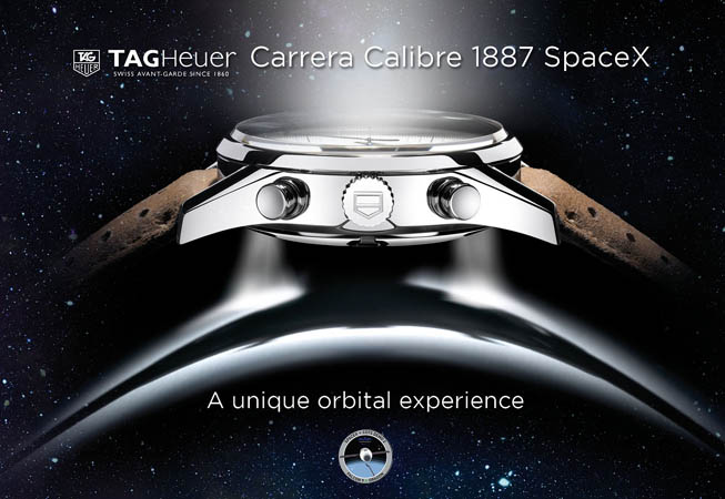 Cronógrafo TAG Heuer Carrera Calibre 1887 SpaceX.