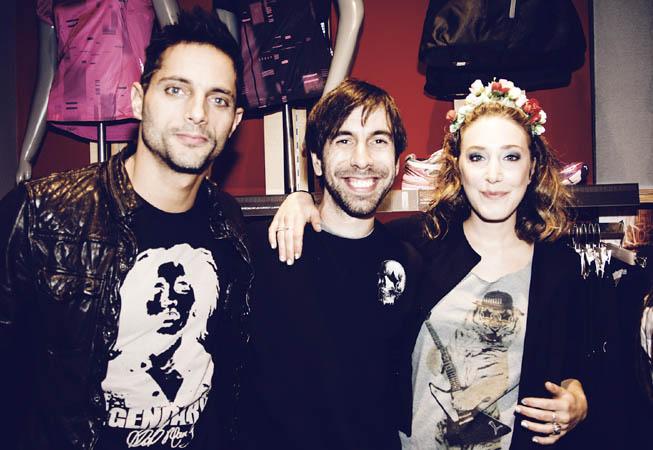 Joaquín Furriel, Clemente Cancela y Anita Pauls en la reapertura de la tienda.