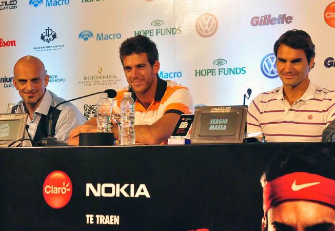 Marín, Del potro y Federer.