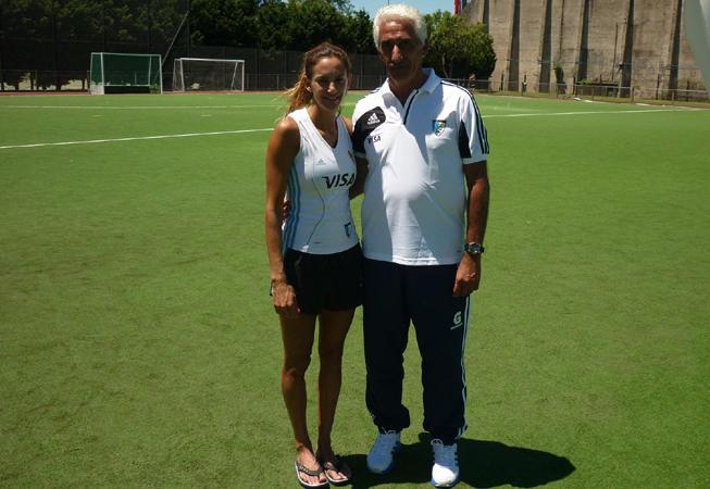Luciana Aymar junto a Marcelo Garraffo. (Foto: C.A.H.)