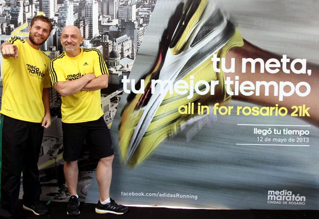 Nico Riera y Ronnie Arias, los conductores del evento.