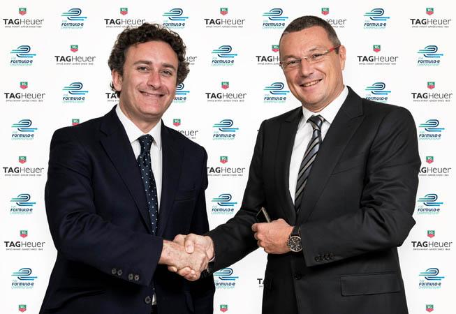 Jean Christophe Babin y Alejandro Agag.