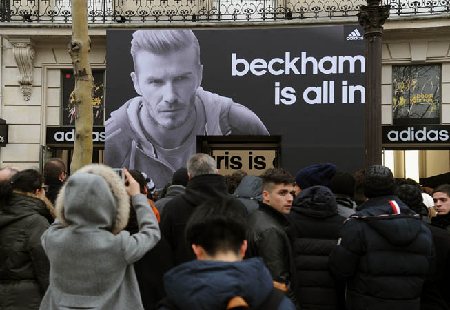 David Beckham is all in. (Foto: adidas Argentina)