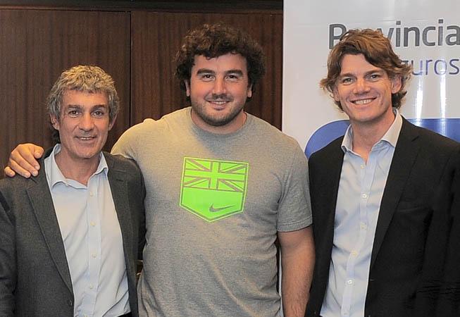 Germán Lauro junto a Alejandro Rodríguez y Nicolás Scioli.