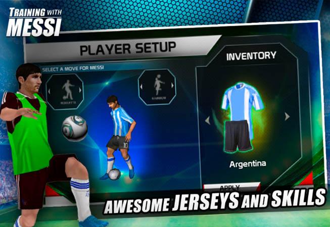 Entrenando con Messi 1