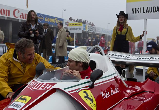 "Daniel Brühl es Niki Lauda en ""Rush"""