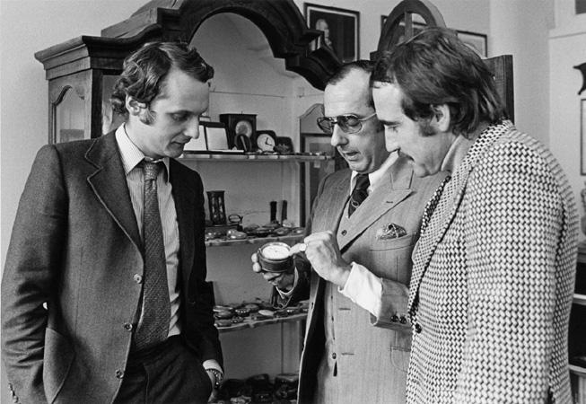 De Izq. a Der.: Niki Lauda, Jack Heuer y Clay Regazzoni.