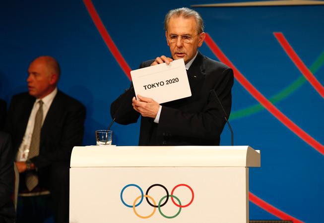 Jaques Rogge anunciando a Tokio como ciudad sede para los JJ.OO. 2020.