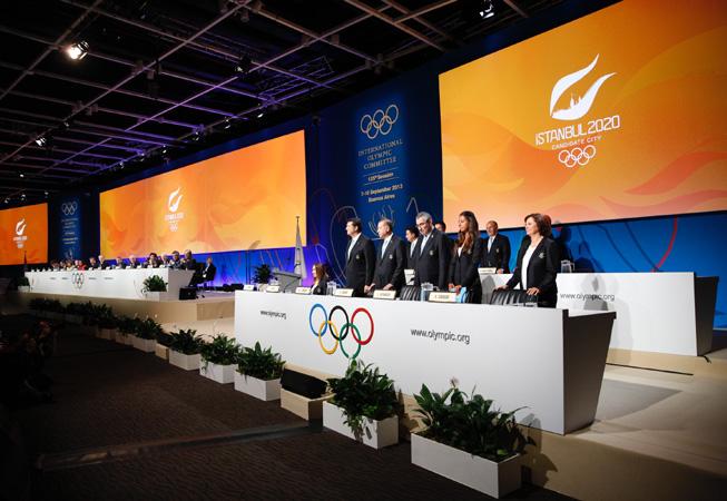 La delegación de Estambul durante su presentación. (Foto: COI)