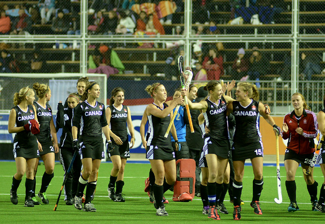 El conjunto canadiense contento con el triunfo. (Foto: Gobierno de Mendoza).