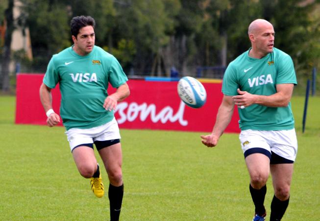 Horacio Agulla y Felipe Contepomi. (Foto: Prensa UAR)