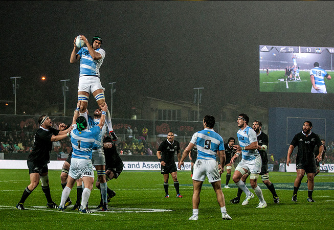 Los Pumas vs. All Blacks. (Foto: Rodrigo Vergara/U.A.R.)