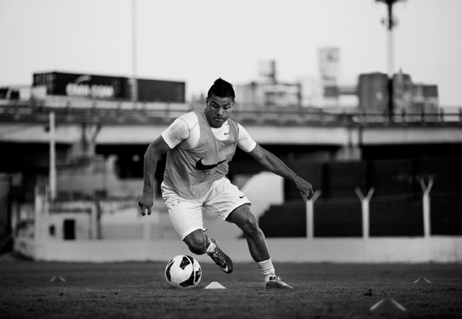 El jugador de fútbol Tito Villalba.