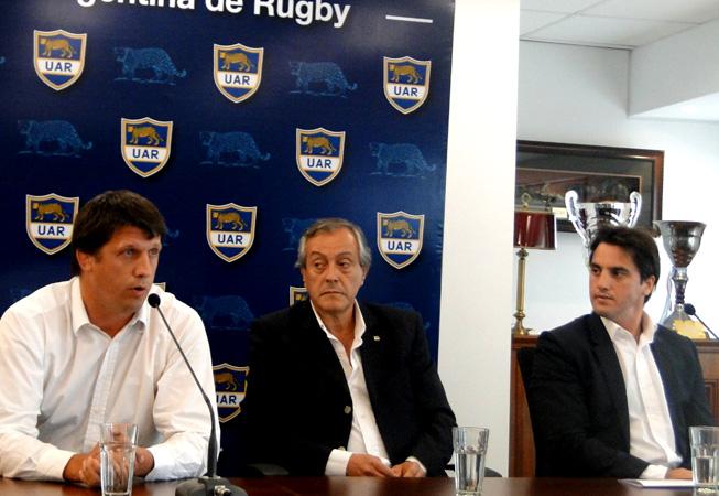 De Izq. a Der.: Santiago Phelan, Luis Castillo y Agustín Pichot.