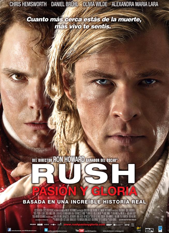 """""""Rush - Pasión y Gloria"""" - Afiche"""
