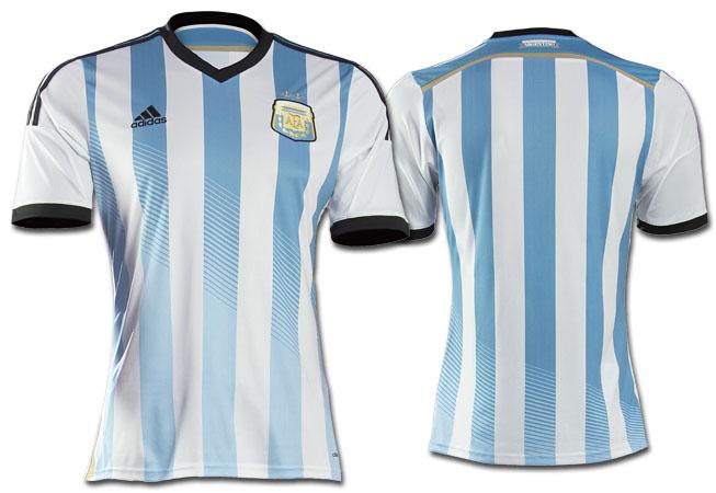 Frente y Dorso de la nueva camiseta titular.