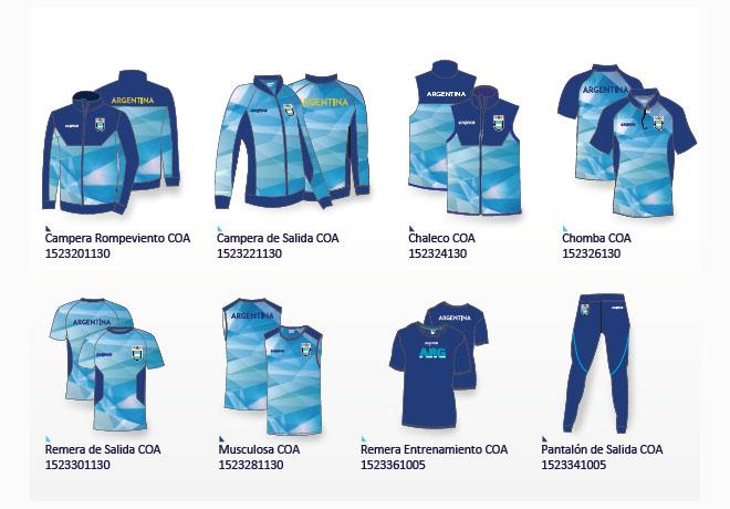 La indumentaria Signia para los Juegos Olímpicos.