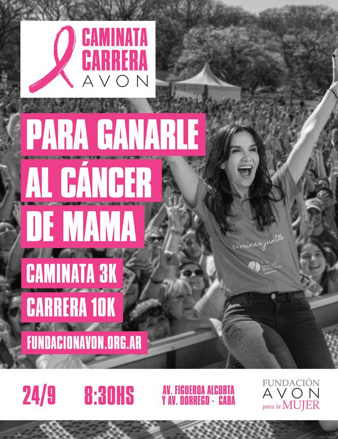 Avon - Fundacion Avon - Caminata - Carrera - Natalia Oreiro - Cancer de Mama