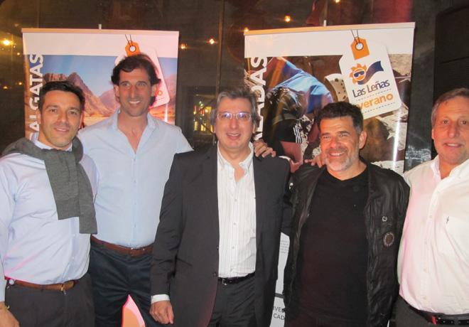 Julián Weich acompaño a Daniel Valentini, Presidente de Valle de Las Leñas, y a los directivos de la compañía en el lanzamiento de la temporada de Verano 2018.