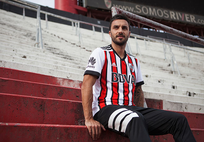 adidas - River Plate - Camiseta Alternativa Tricolor