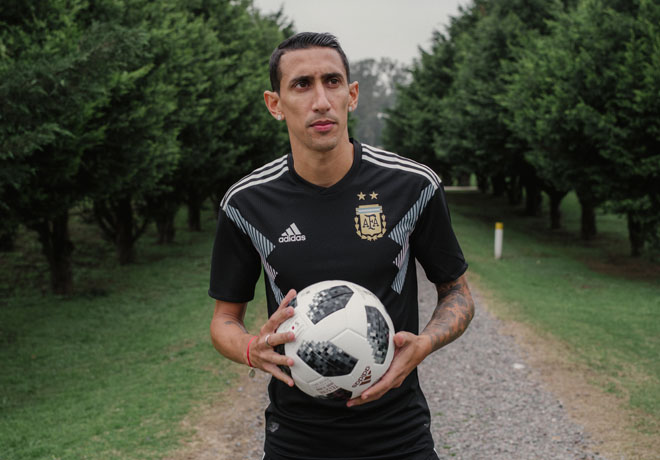 adidas Angel Di Maria - Camiseta-Seleccion Argentina Rusia 2018 - Alternativa